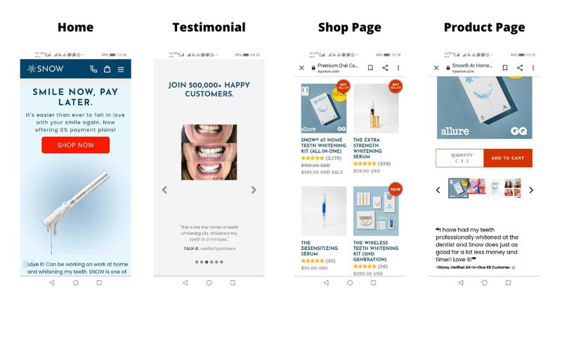 eCommerce user experience best practices - mobile-friendly ecommerce store