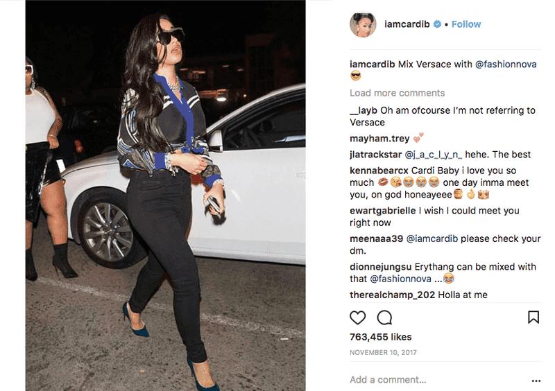 nfluencer Marketing — Cardi B and Fashion Nova