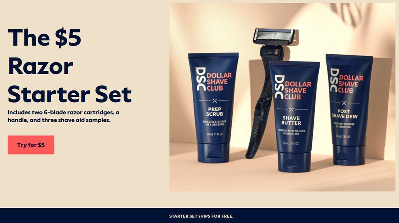Dollar Shave Club set
