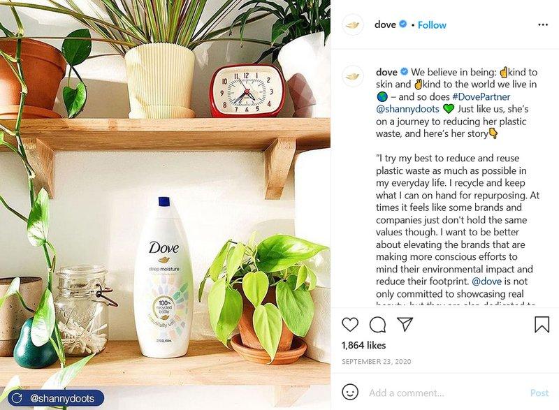 nfluencer Marketing — Dove