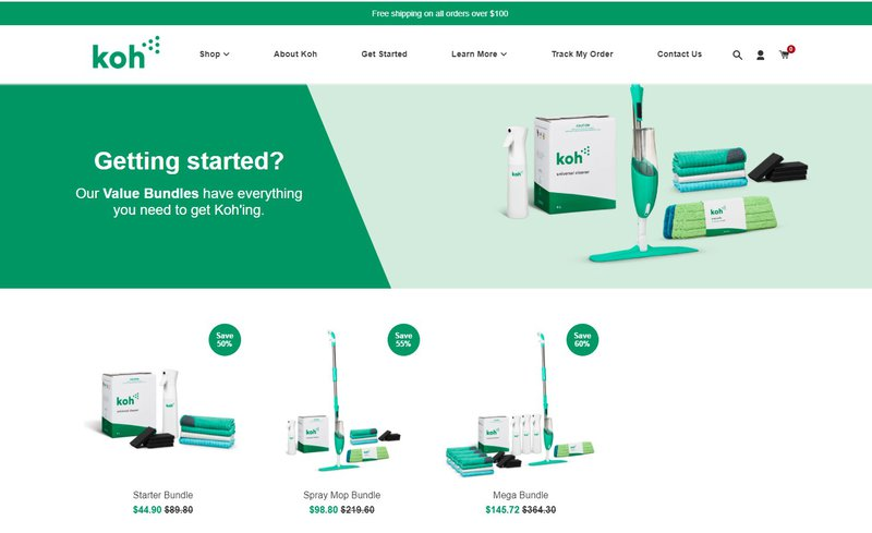 Koh – Upsell product bundling practice