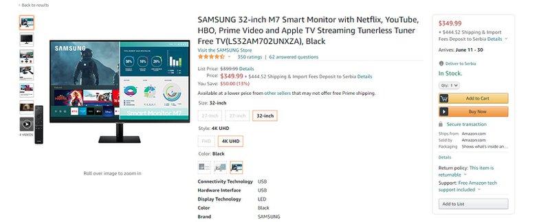 M7 Smart Monitor bundling