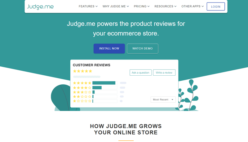 Shopify Product Reviews Alternatives - Judge.me