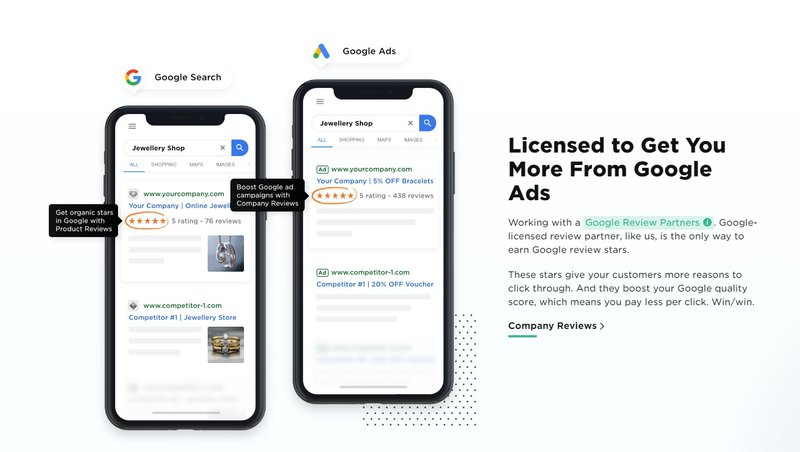 Reviews.io - licensed to get you more from google ads