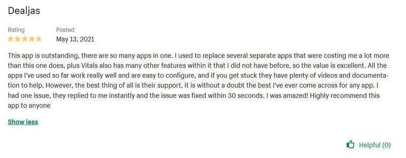 Vitals reviews #1