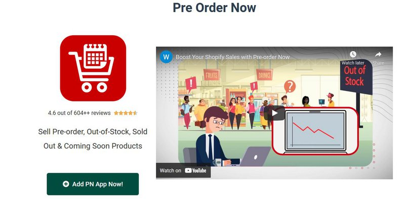 #2 Shopify Pre-Order App: Pre‑Order Now (by Website On-Demand)