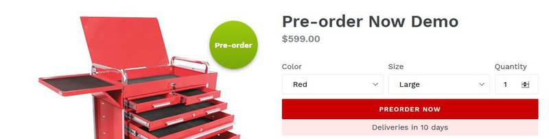 Pre‑order Now by Website On-Demand — Pre-order discounts