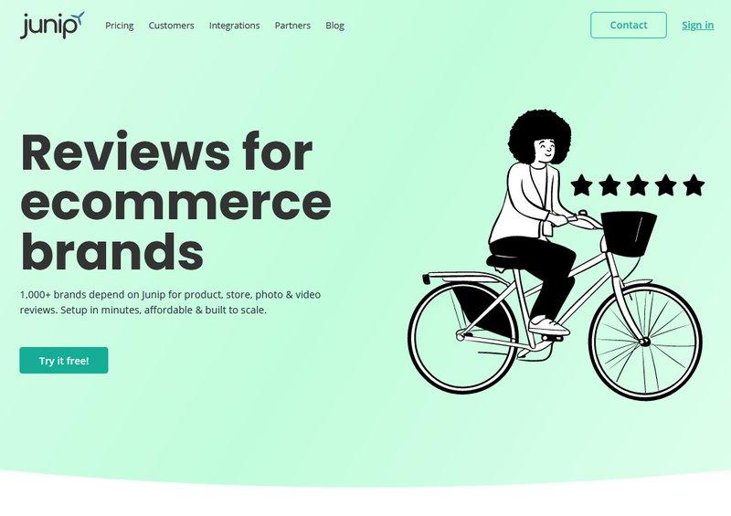 Judge.me alternatives: Junip Photo and Product reviews