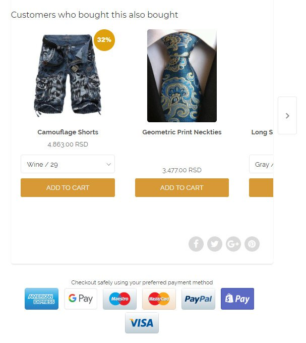 eCommerce user experience best practices - vitals payment logos