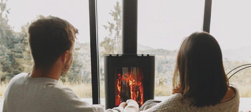 people enjoying fireplace