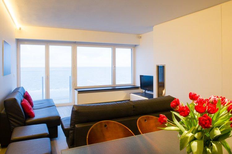 Modern appartement te huur met zeezicht in Oostende
