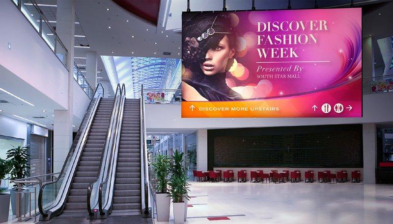 digital signage u tržnim centrima