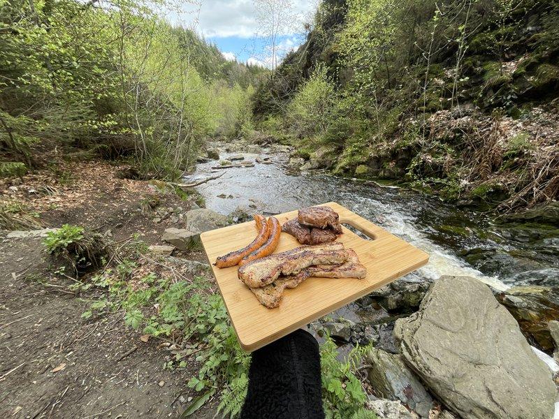 BBQ'en in het midden van de Ardennen