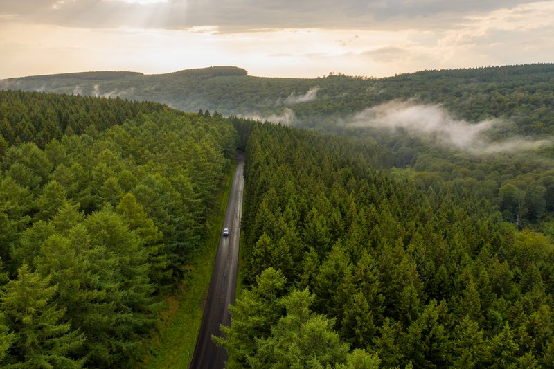 De Ardennen vanuit de lucht