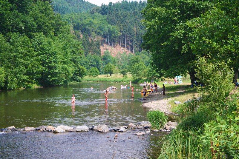 Zwemplaats in de Ardennen