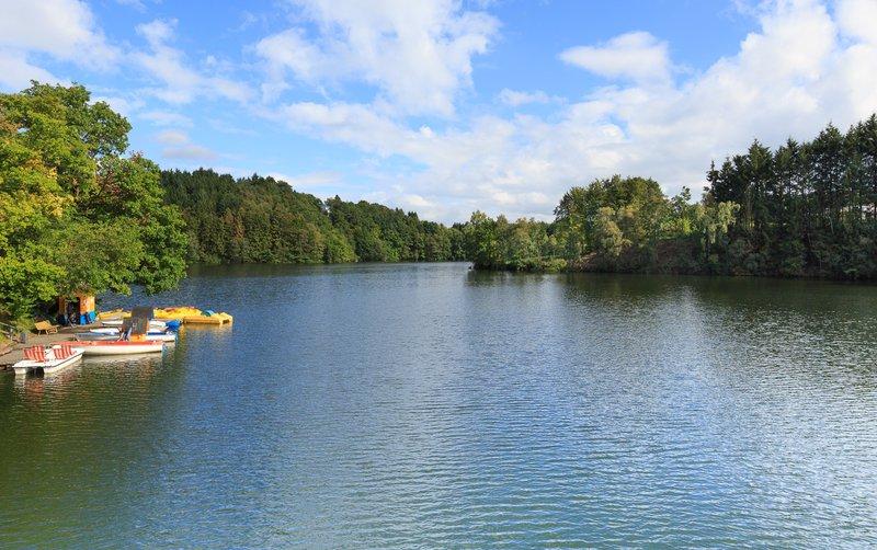Zwemplaats Robertville in de Ardennen