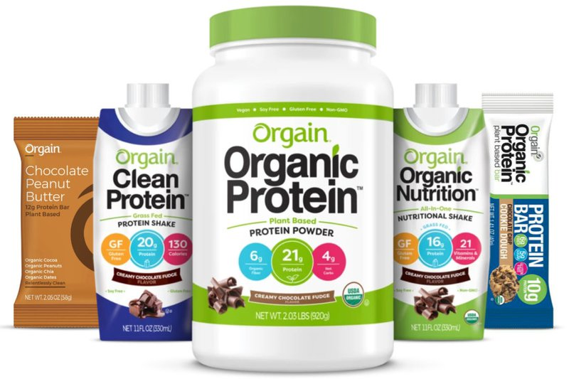 picture of orgain protein products