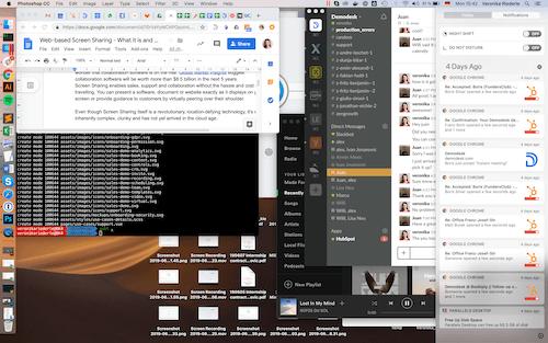 web-based screen sharing