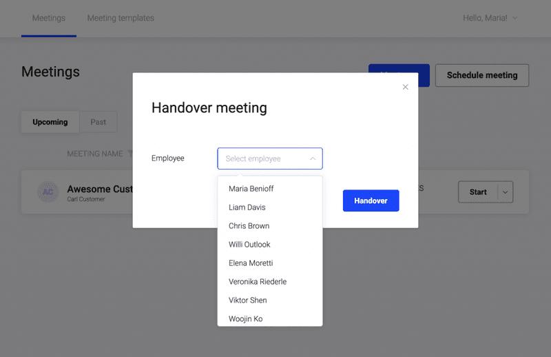 demodesk handover meeting
