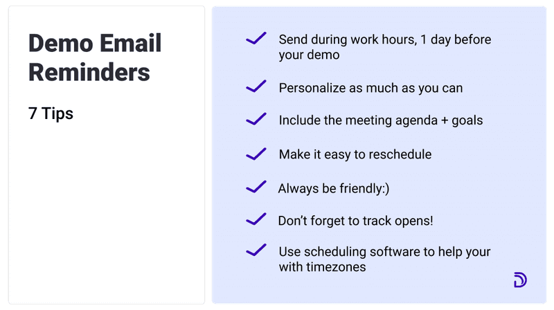 product demo email reminders 7tips