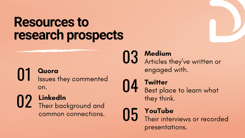 Resources to research prospects