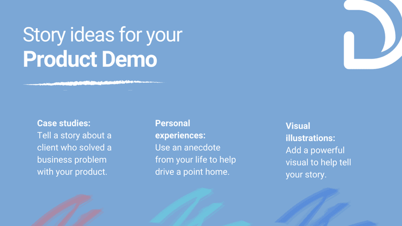 Story Ideas for Product Demo