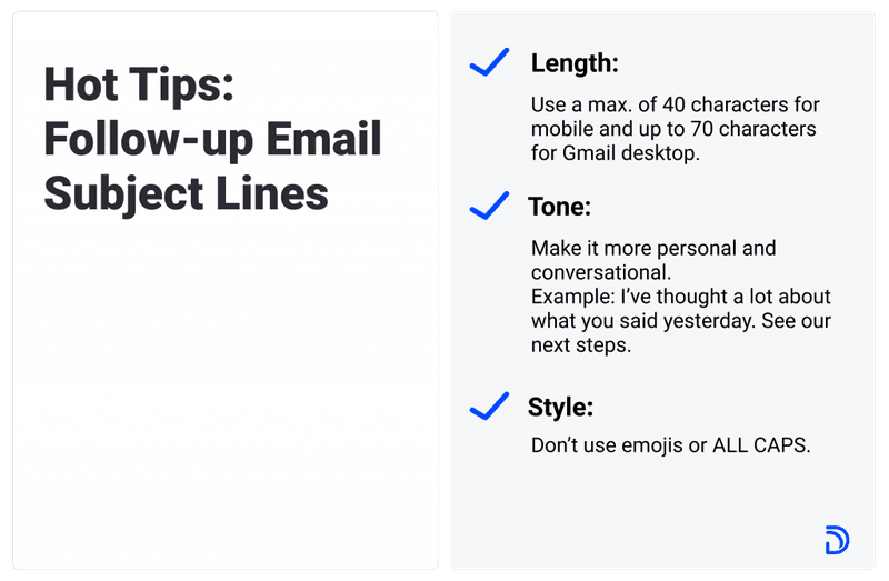 hot tips for the best subject lines