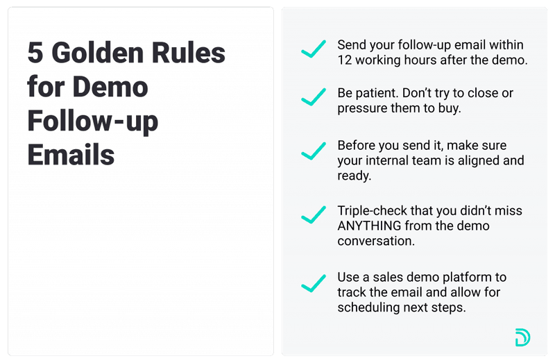 5 Golden Rules for sales follow-up emails