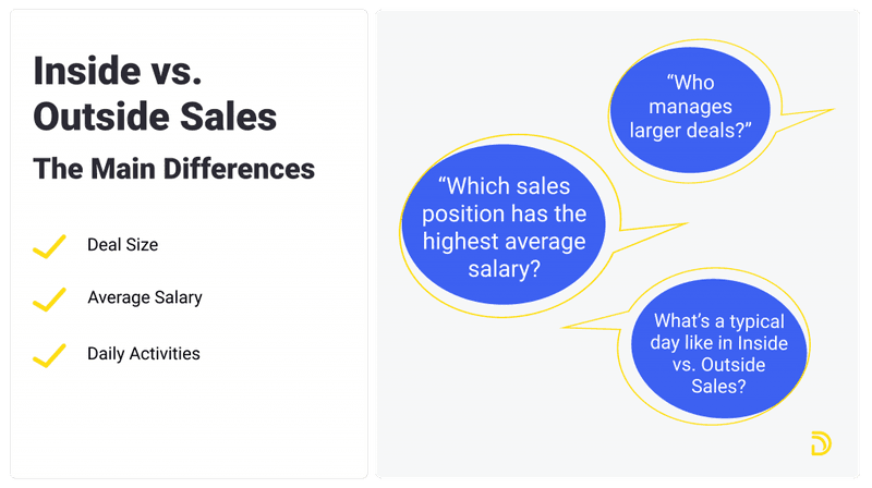 outside sales vs inside sales: The main differences