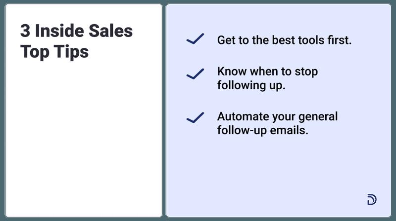 3 inside sales top tips
