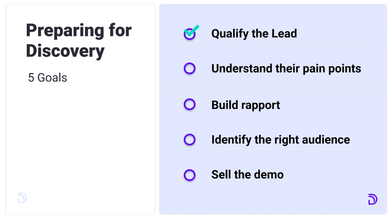 B2B sales process step 1: Preparing for discovery
