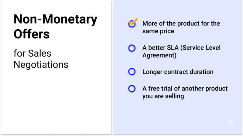 negotiating using non-monetary offers