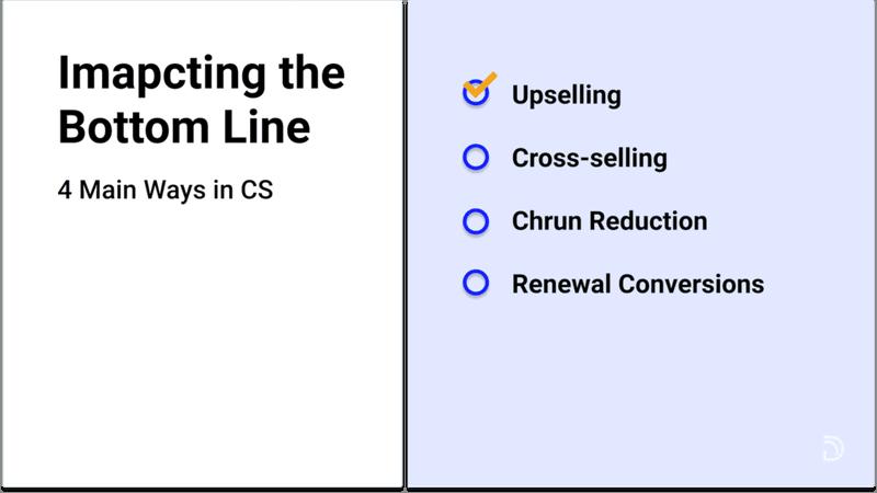 how CS impacts the bottom line