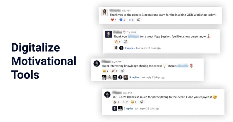 Slack Digitalize Motivational Tools