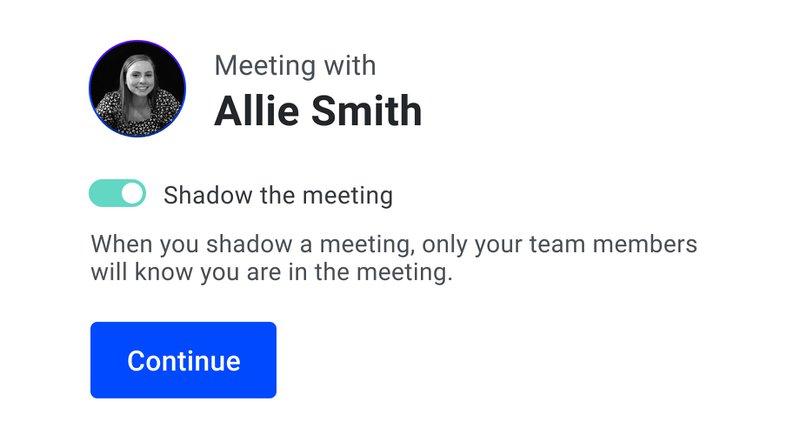 Shadow the meeting Demodesk
