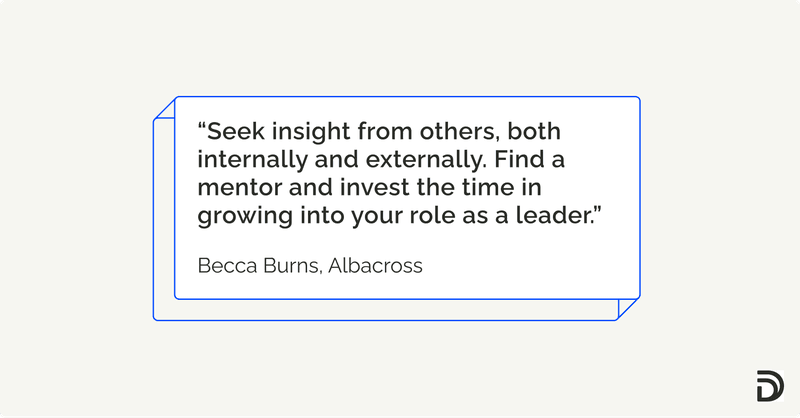 Stepping into a leadership role