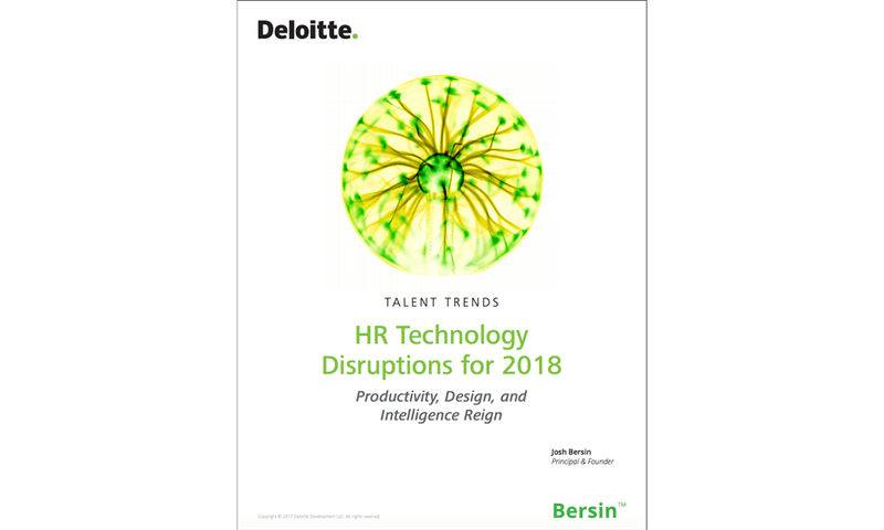 HR Technology disruptions for 2018
