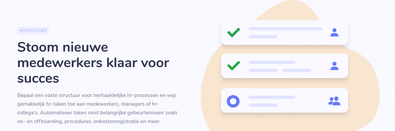 De nieuwe Workflow Feature in onze hr tool