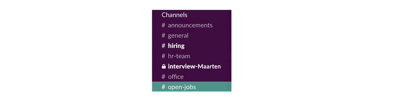 Channels in Slack