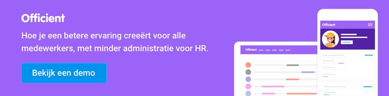 Minder administratie, meer tijd voor HR