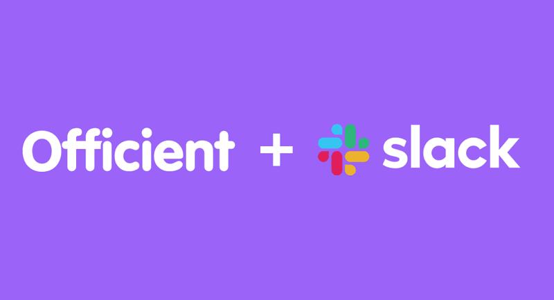 Hoe werkt de Officient - slack integratie