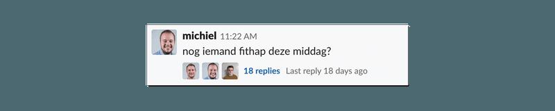 Threads in Slack houden gesprekken overzichtelijk.