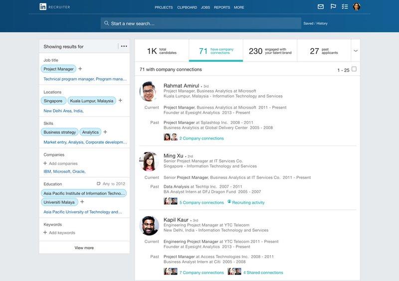 HR tools rekrutering: Linkedin Recruiter