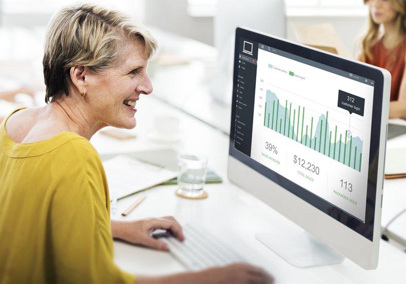 Customer Marketing Sales Dashboard Graphics Concept