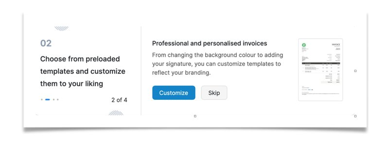 Customizing and branding invoices