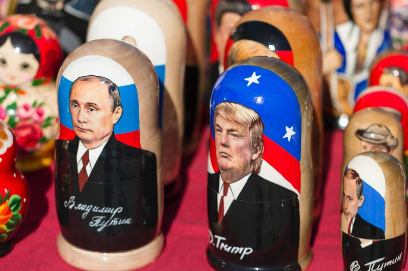 Came across these kitschy babushka made for the Trump visit to Russia.