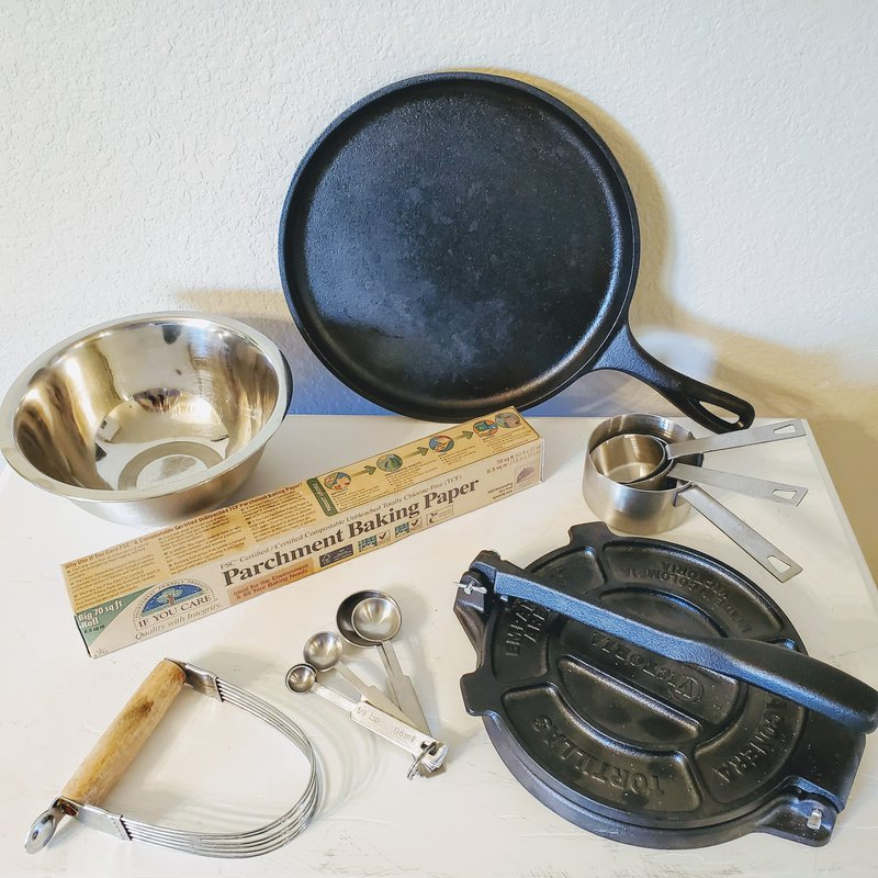 Equipment needed to make AIP tortillas