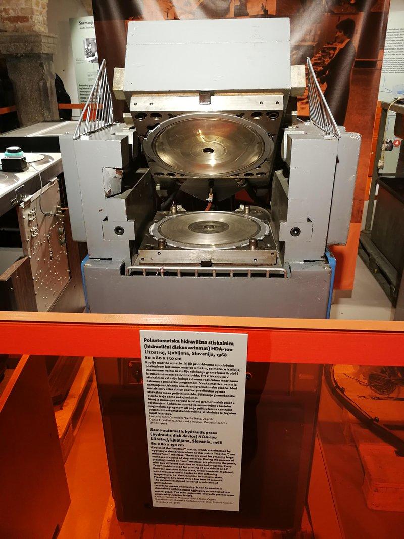 vinyl record press