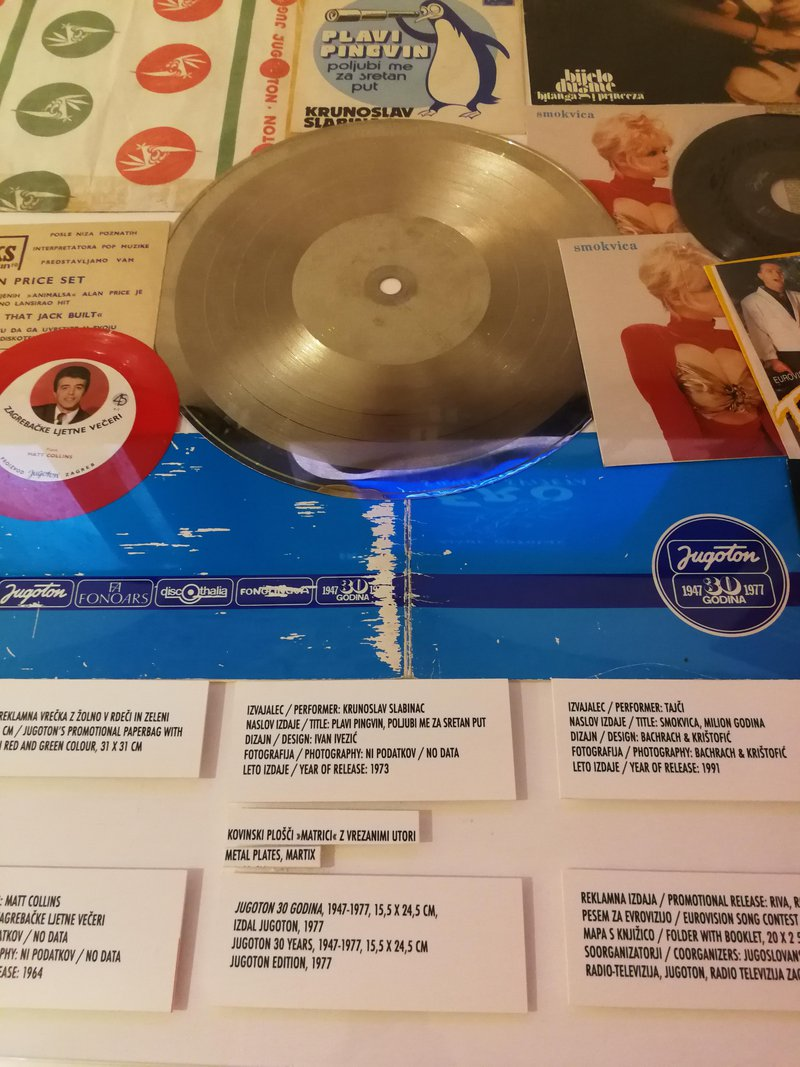 Vinyl pressing matrix disk