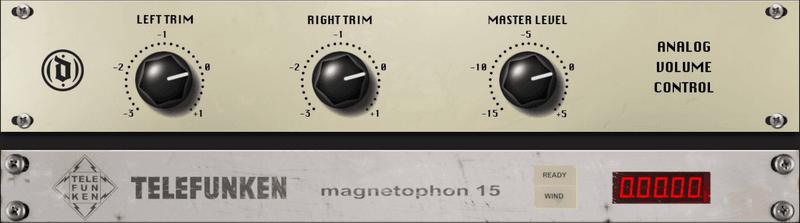 mix:analog Analog Volume Unit and Telefunken M15 GUI